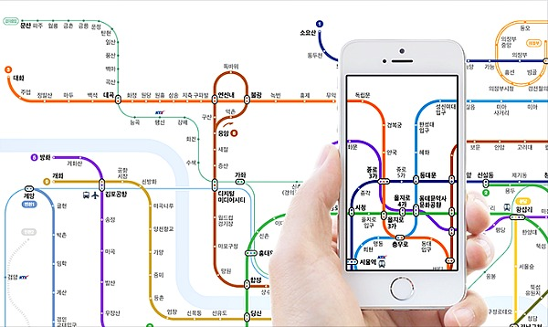 Korean Subway Map 2015.Naver Launches Intuitive Subway Maps In Collaboration With French