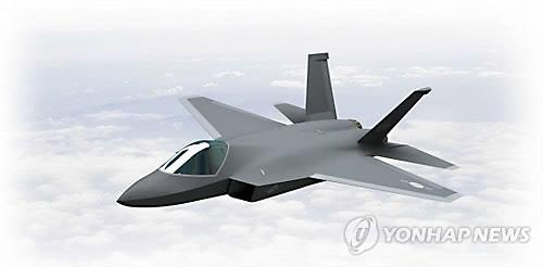 An artist's rendition of the indigenous Korean fighter jet (Yonhap)