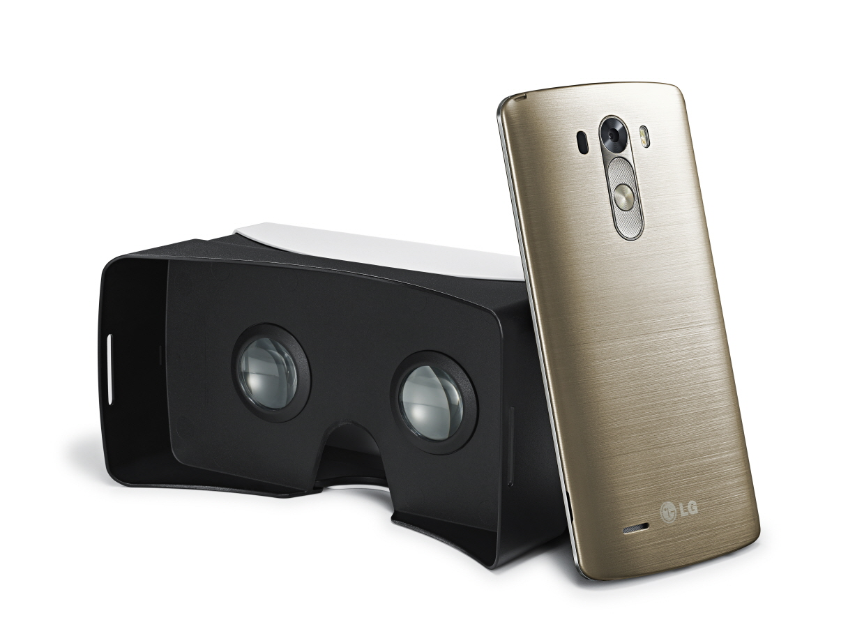 The design of VR for G3 is based on the blueprint for Google Cardboard, available online for home DIY fan. (image: LG Electronics)