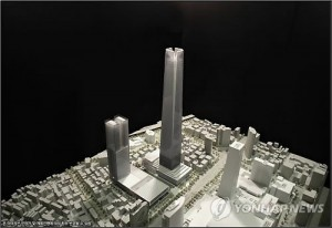 Hyundai plans to set up a 115-story building that will reach a height of 571 meters, and will be made up of offices, a convention center, hotel and shopping area. (image: Yonhap)