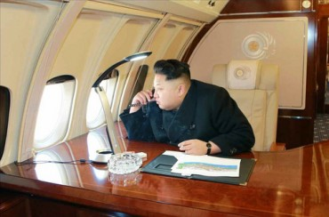 North Korean Leader Kim Jong-un Flies with His Private Jet