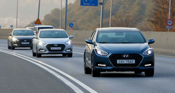 The refurbished edition of the i40 was uncloaked earlier last week. (image: Hyundai Motor)