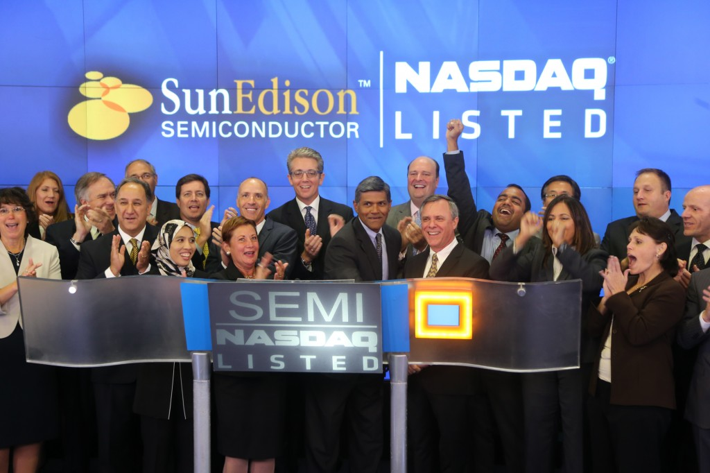 SunEdison Semiconductor is a global leader in the manufacture and sale of silicon wafers to the semiconductor industry. (image: Nasdaq)