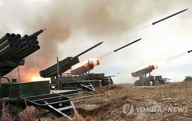 The call came as Seoul and Washington plan to conduct their annual joint military drills in March, which have been denounced by Pyongyang as rehearsals for an invasion of the North. (image courtesy of Yonhap)
