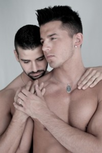 """Proposition Love Jewelry, a gay owned and operated fine jewelry company, invites lovers everywhere to """"Get Your Heart On"""" with a stylish and sexy video featuring men who definitely know how to """"put a ring on it,"""" as a symbol their love and commitment. (Photo courtesy of Proposition Love Jewelry/Business Wire)"""