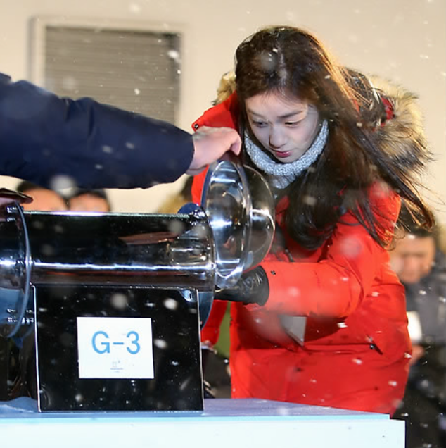 As an honorary Games Ambassador, she expressed her wishes for a successful event. In 2011, when Pyeongchang was bidding for the 2018 Winter Olympic Games, Kim impressed IOC members with her final presentation, and played a major role in Pyeongchang's successful bid. (image courtesy of Yonhap)
