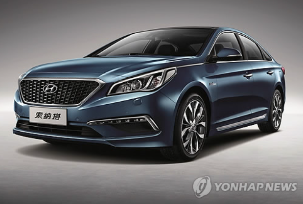 The new China-only Sonata LF midsize sedan (Courtesy of Hyundai Motor Co.)