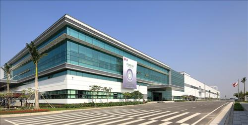 Shown is LG Electronics' new production plant in Vietnam that opened on March 27, 2015. The complex will produce the tech firm's key export items such as smartphones and TVs. (Photo courtesy of LG Electronics)