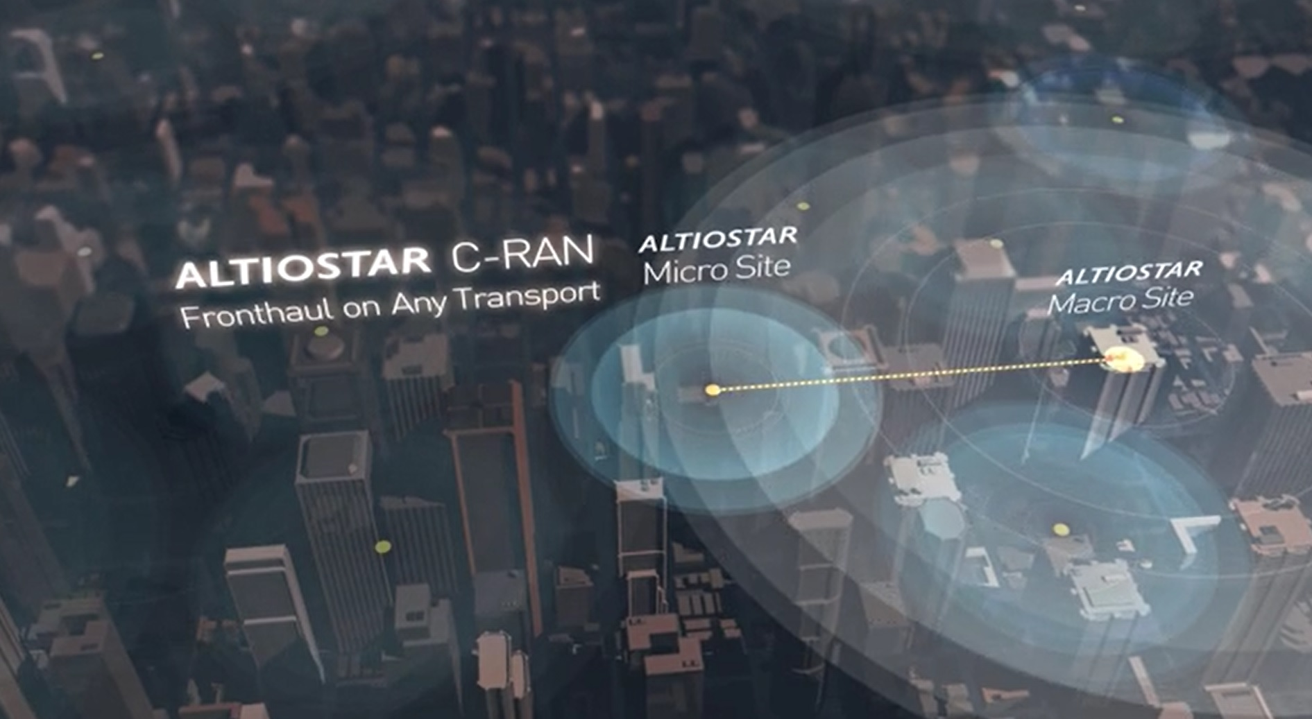 This C-RAN solution works over Ethernet fronthaul and it does not require dark fiber in the last mile, which conventional C-RANs require to carry CPRI. (image: Altiostar)