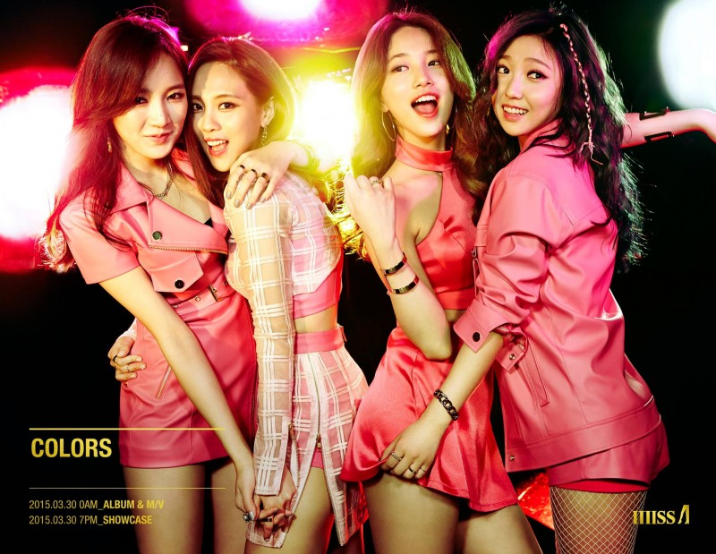 "Miss A Returns with Sexy Concept Album ""Colors"""