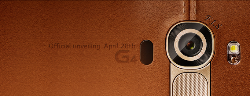 "LG revealed a teaser and invitation that showed ""F1.8"" written around a camera covered with a leather case. (image: LG Electronics)"