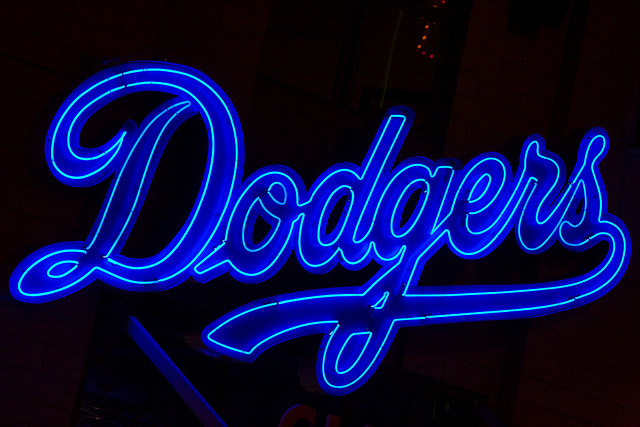 The LA Dodgers, which have won the World Series six times, are hugely popular among South Koreans as Korean star pitcher Ryu Hyun-jin currently plays on the team. (image: Thomas Hawk/flickr)