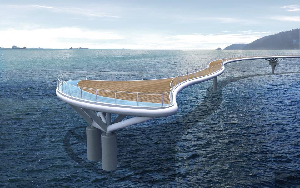 Songdo Beach will be equipped with a 104-meter-long skywalk. (image: Busan Metropolitan Office)