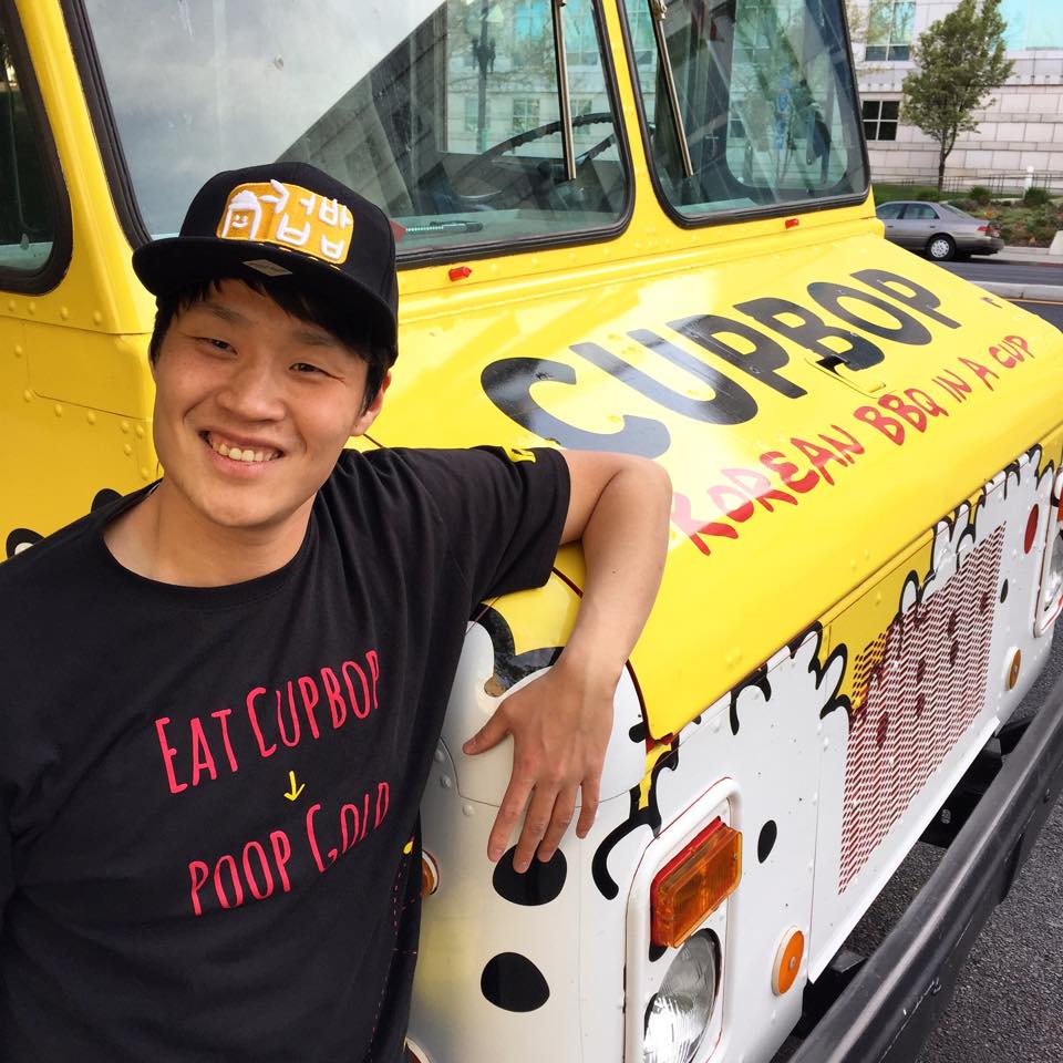 In Utah, there are approximately 120 food trucks operating, but the Koreans' distinctive yellow trucks have become extraordinarily popular by selling cupbop, rewriting the history of Utah's food truck market in just two years. (image: Cupbop - Korean BBQ Facebook)