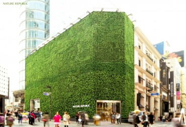 Nature Republic's Myeongdong Store Undergoes Green Remodeling