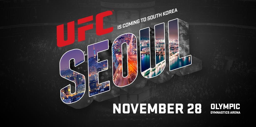 The Ultimate Fighting Championship tweeted that it will head to South Korea for the first time on Nov. 28. (image: UFC)
