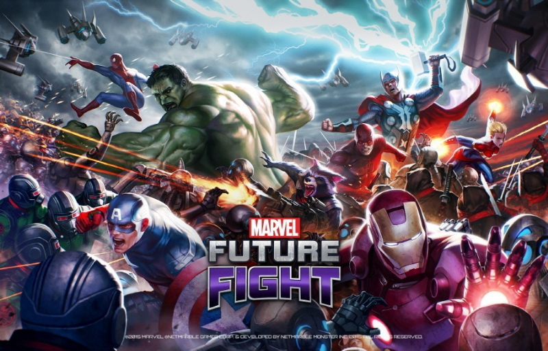Marvel Future Fight has officially hit the Top 10 'Top Free' Apps, surpassing 10 million downloads across 118 countries in two weeks. (image: Netmarble)