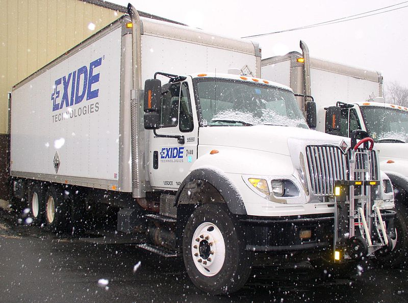 Exide Technologies, with operations in more than 80 countries, is one of the world's largest producers and recyclers of lead-acid batteries. (image: wikipedia)