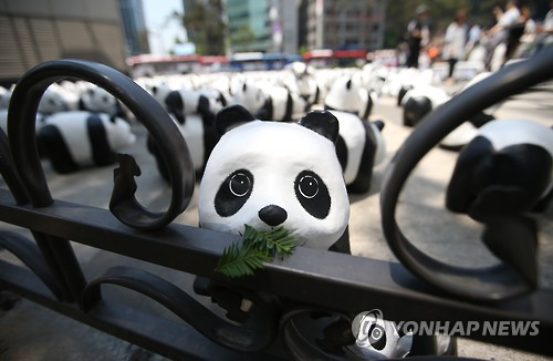 Paper-Mache Pandas Arrive in Korea