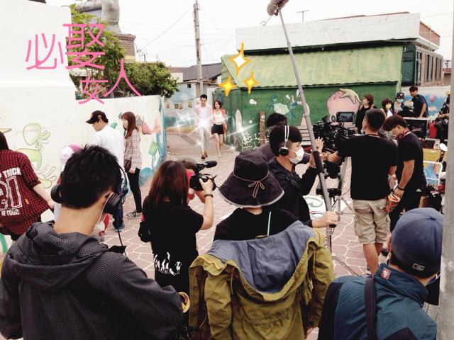 """The segment being filmed shows the main character visiting major tourist attractions, including Gamcheon Culture Village, Gwangalli beach, the famous secondhand bookstores of Bosu-dong, BiFF Square, Jukseong Catholic Church in Gijang, and Busan Tower to gather information about honeymoon or wedding packages. (image: Facebook page of drama """"Marry me or not?"""")"""