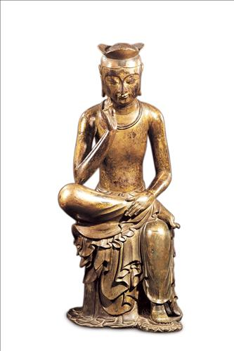 The Gilt-bronze Maitreya in Meditation (National Treasure No. 83) (Image : Gyeongju National Museum)