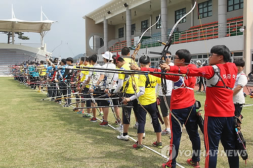 Yecheon-gun is considering the establishment of an archery union with Mongolia, Bhutan and India, which are major archery nations. The picture above shows the 49th Annual National Male and Female Archery Championship. (image : Yonhap)
