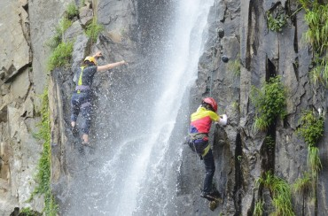 Dry-Tooling Competition at Korea's Famous Winter-Cold Waterfall Opens on July 12