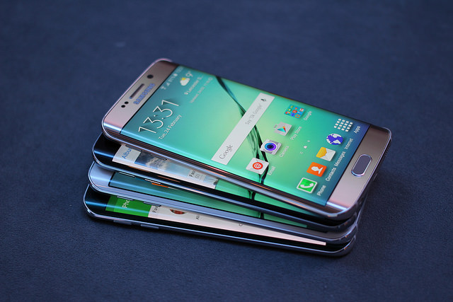 Officially launched in April, the Galaxy S6 Edge was initially considered an upbeat sister of the flagship Galaxy S6 by boasting the industry's first screen that is curved on both sides. (image: Maurizio Pesce/flickr)