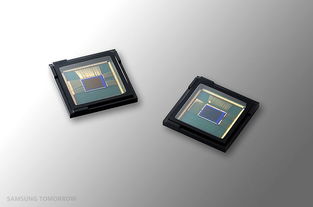 The new 16-megapixel image sensors for smartphones are based on 1-micrometer-pixel technology, which compares to the previous sensors that used 1.12-micrometer pixels. (image: Samsung Electronics)