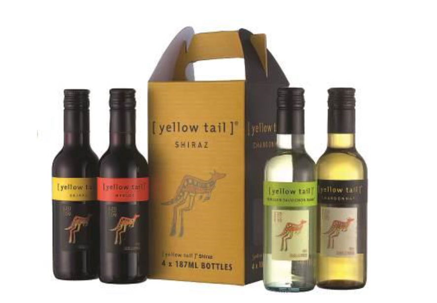 Yellow Tail, a smaller packaged mini-wine product (image courtesy of Yonhap)