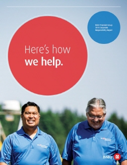 The stories featured in the CSR show BMO's corporate responsibility principles in action. (image: BMO)