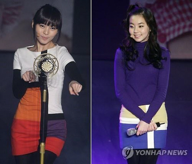 JYP Entertainment announces on July 20, 2015, the withdrawal of Sunye (L) and Sohee (R) from the girl group Wonder Girls. (Yonhap)