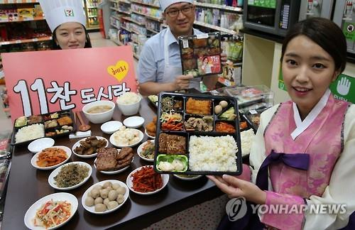 The HMR market, which the convenience stores are focusing on, increased in size to 1.3 trillion won last year, and is expected to grow further to reach 2 trillion won. (image: Yonhap)