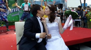 Novelty Wedding at Sinchon Watergun Festival