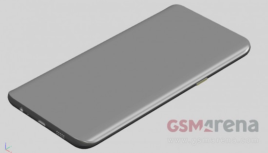 Rendering image for expected Galaxy Note 5 (image courtesy of GSM Arena)