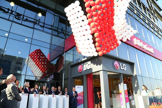 Th opening of the LG electronics store in Jordan. (Image : LG electronics)