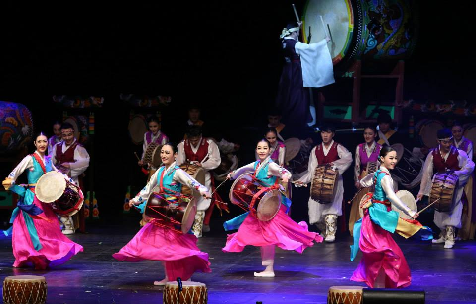 Members of the Cheongju City Dance Company hold a traditional drum performance at a concert hall in Cheongju during the opening ceremony of the 2015 East Asia City of Culture at March 10, 2015. (image: Culture City of East Asia)