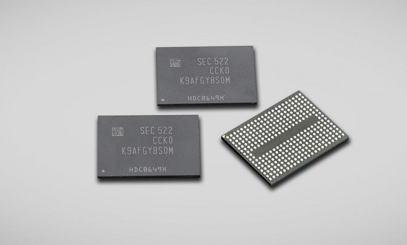Samsung Begins World's First Mass-production of 256-gigabit V-NAND Chips