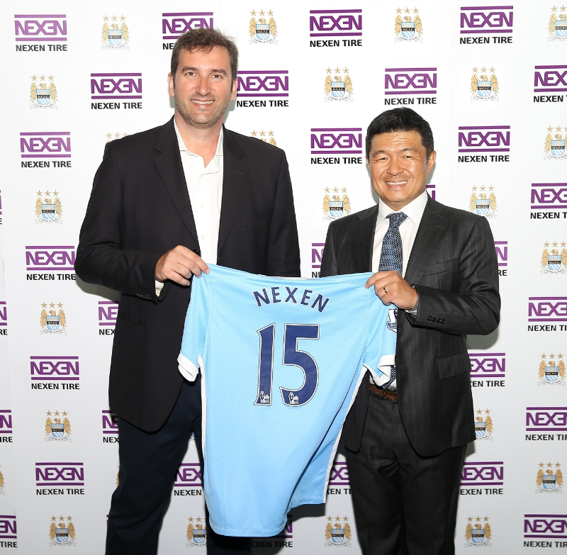 Nexen Tire held a signing ceremony for their partnership agreement with Manchester City FC at the City Football Academy in Manchester, England. (image: Nexen Tire)