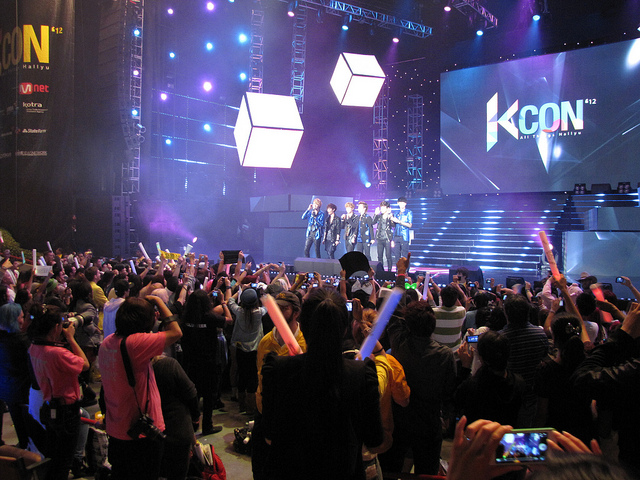 The words that were used the most were KCON, KCON LA, GOT7, Super Junior, Kpop, Crush, Girls Generation and KCON NY. (image: Peter Kaminski/flickr)