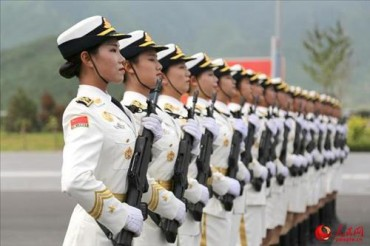 Chinese Female Honor Guards Attract Attention