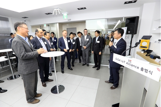 The GiGA IoT Alliance, Korea's largest IoT consortium, is composed of approximately 100 partner companies in the IoT sector, including Samsung Electronics, Nokia and China Mobile.  (image: KT)