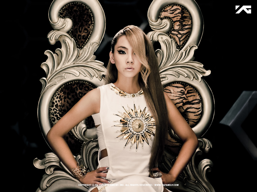 "The member of the South Korean girl group 2NE1 is a ""self-proclaimed 'Baddest Female'"" and ""one of the buzziest female rappers in Korea,"" the magazine said. (image: YG Entertainment)"