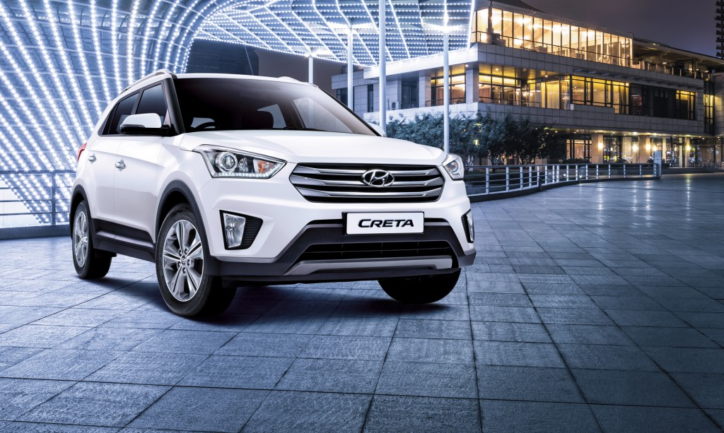 A total of 6,783 Cretas were sold in India in July, the highest number among the 23 SUVs that are currently sold in India. (image: Hyundai Motor)