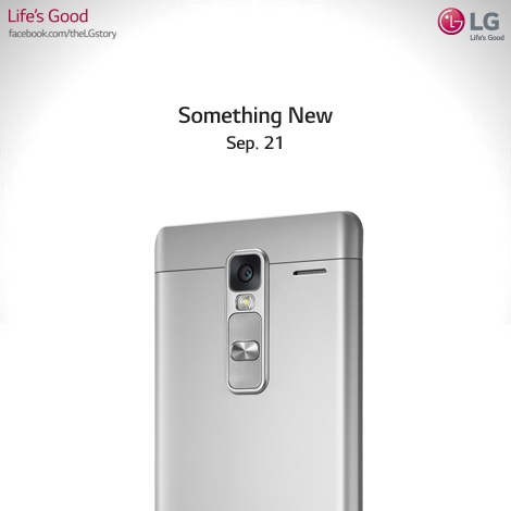 The company posted a photo on its Facebook page hinting that it would introduce a new smartphone soon. (image: LG Electronics Facebook page)