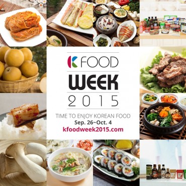 K-Food Week 2015: The Most Delightful Korean Food Event Will Run from Sept. 26 Across the Country