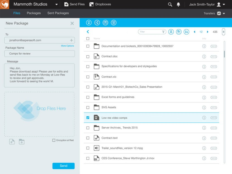 Aspera Transforms Large Content Sharing and Collaboration in the Cloud with Aspera Files