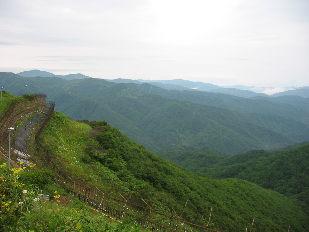 The DMZ seen from Eulji Observatory. (Image : Friar's Balsam / Flickr)