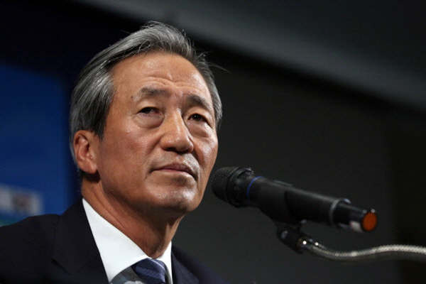 The Ulsan branch of the Korean Confederation of Trade Unions and trade unions from HHI subcontractors announced that it would stage an overseas strike by visiting Switzerland to eliminate the largest shareholder of HHI during an ethics screening process for the FIFA chairman candidate. (image: Korea Football Association)