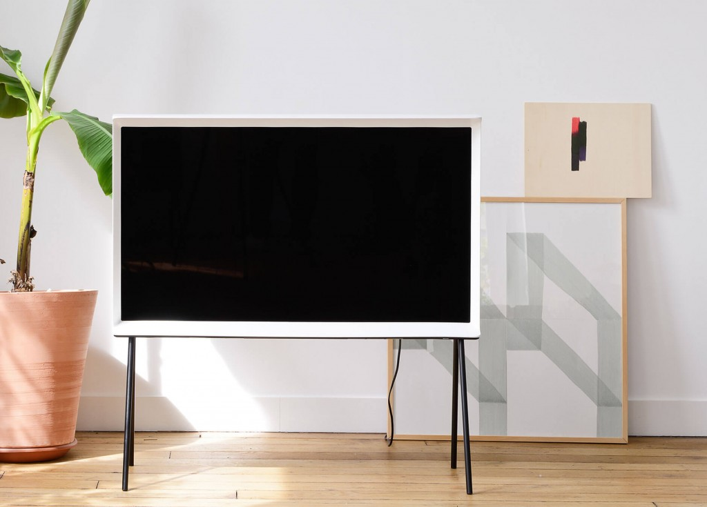 Samsung's Serif TV, which comes in a stylish wood, plastic or metal frame intended to give a retro look, was showcased at the London Design Festival on Monday (U.K. time). (image: Samsung Electronics)